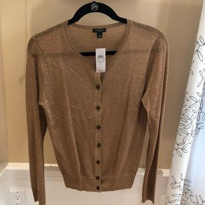 Ann Taylor gold glittery sweater NWT